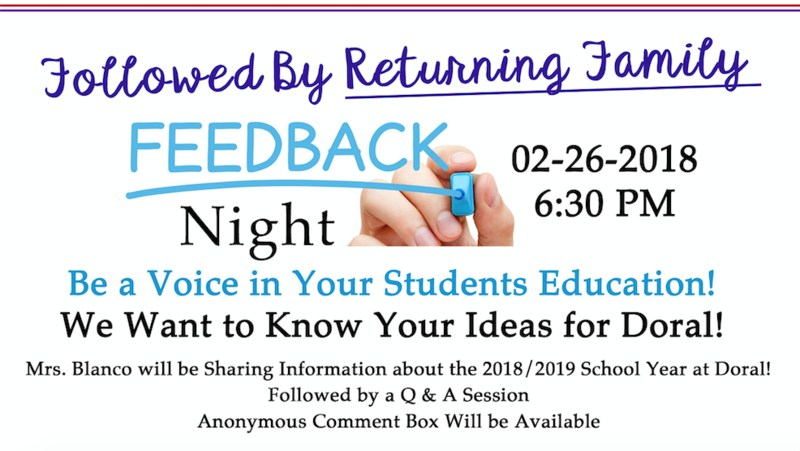 Returning Parent Feedback Night Thumbnail Image