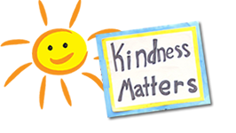 Kindness Matters poster with sun