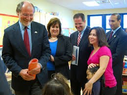 Governor Corzine, Director Adriana Birne, Mayor/Senator Brian Stack and teacher