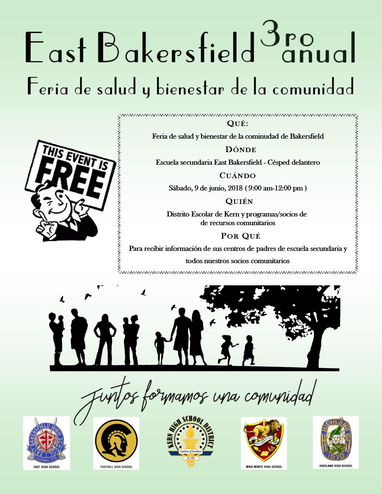 3ra Feria Anual de Salud y Bienestar de East Bakersfield
