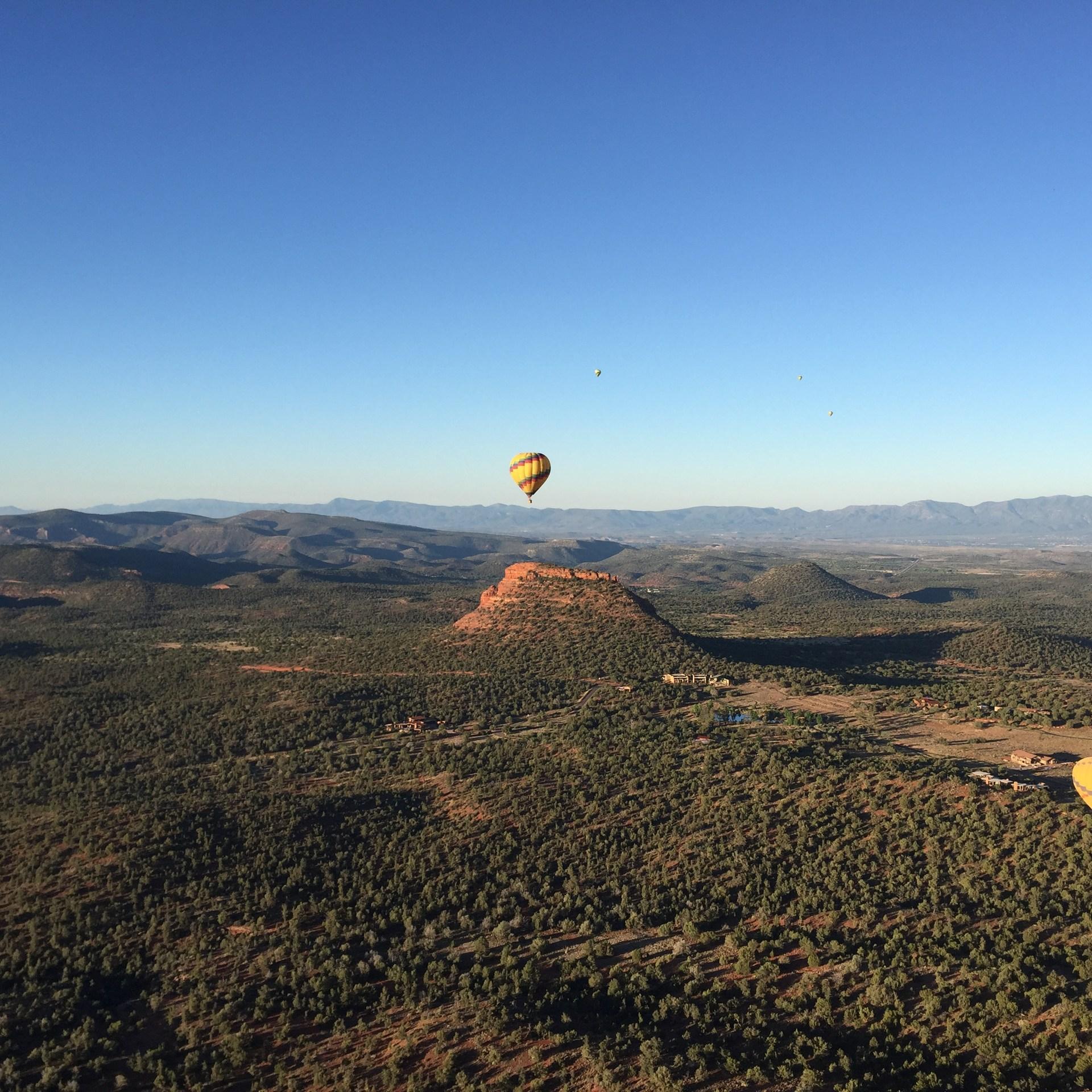 My hot air balloon ride in Sedona Arizona
