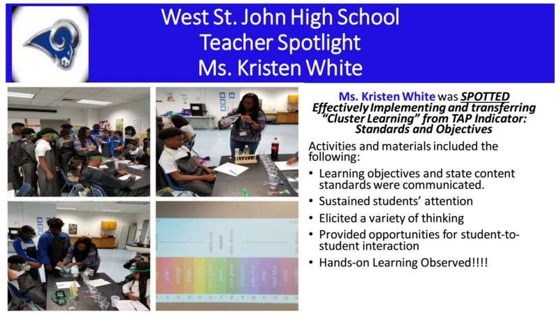 WSJH Teacher Spotlight - Ms. White Thumbnail Image