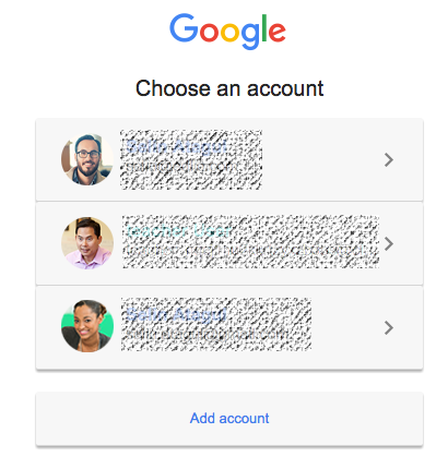 Choose your Google account to connect