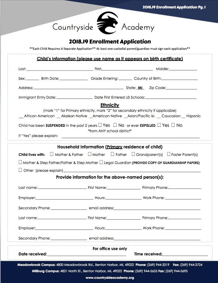 Enrollment Application Image