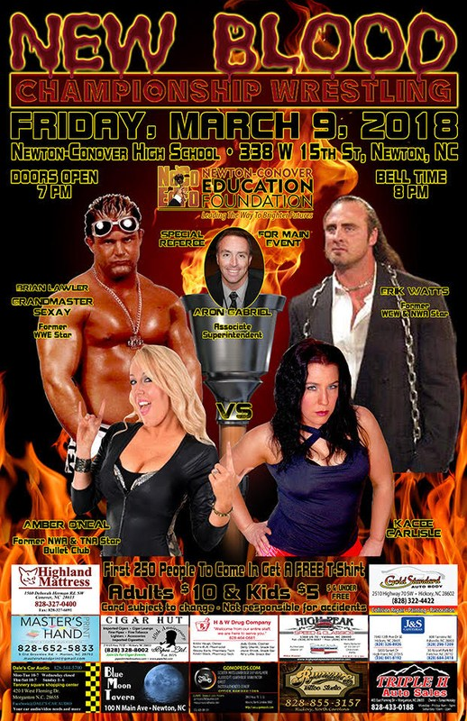 marketing poster for March 9, 2018 professional wrestling event