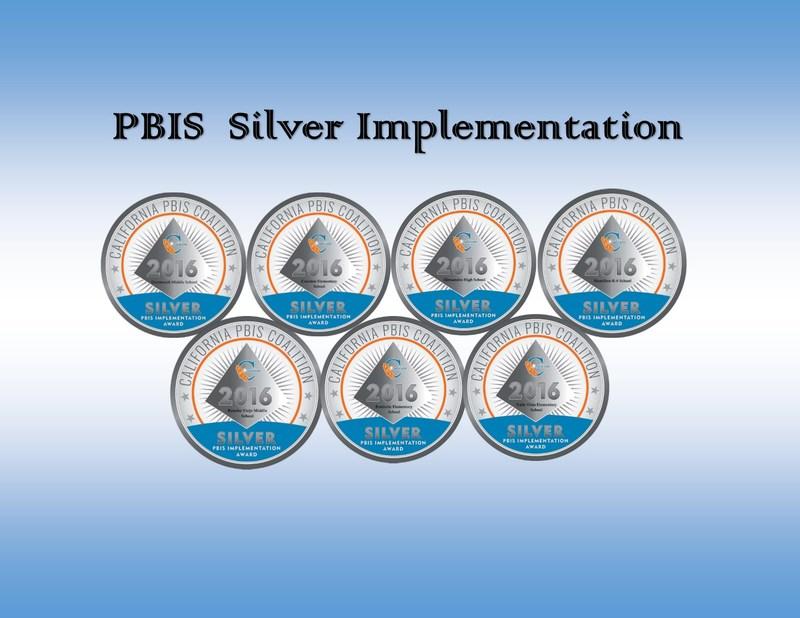 Silver Recognition Award to Dartmouth, Cawston, Alessandro, Hamilton School, Rancho Viejo, Fruitvale, and Valle Vista.