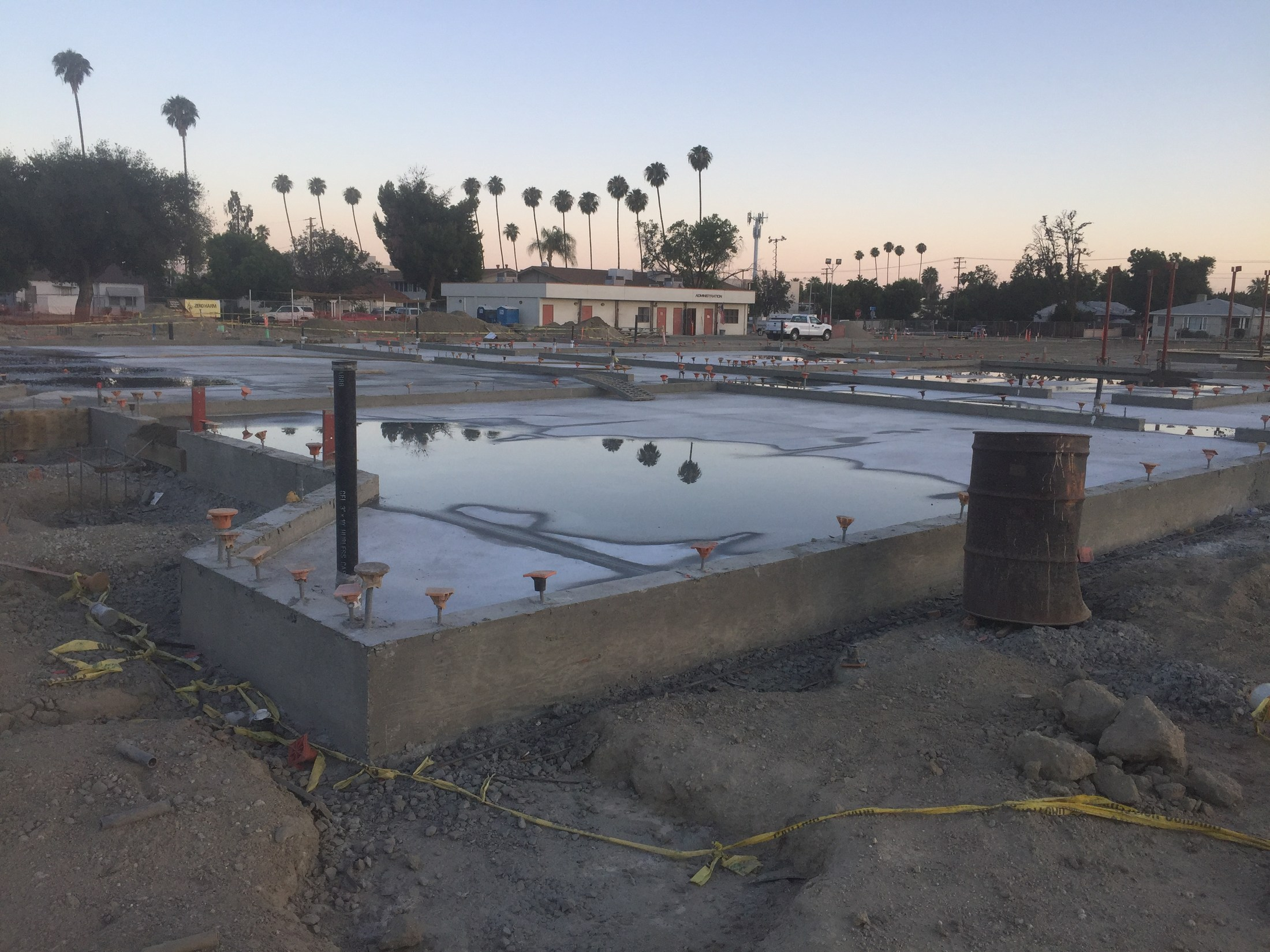 Bldg D Classroom Slab on Grade Poured