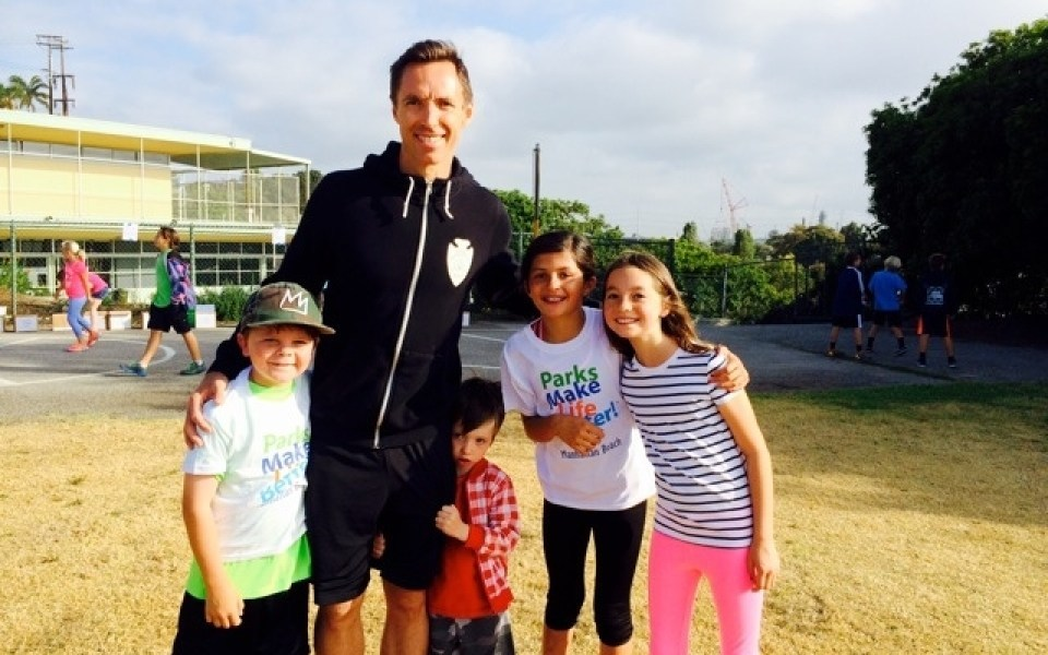 Guest Steve Nash with Gator Runners
