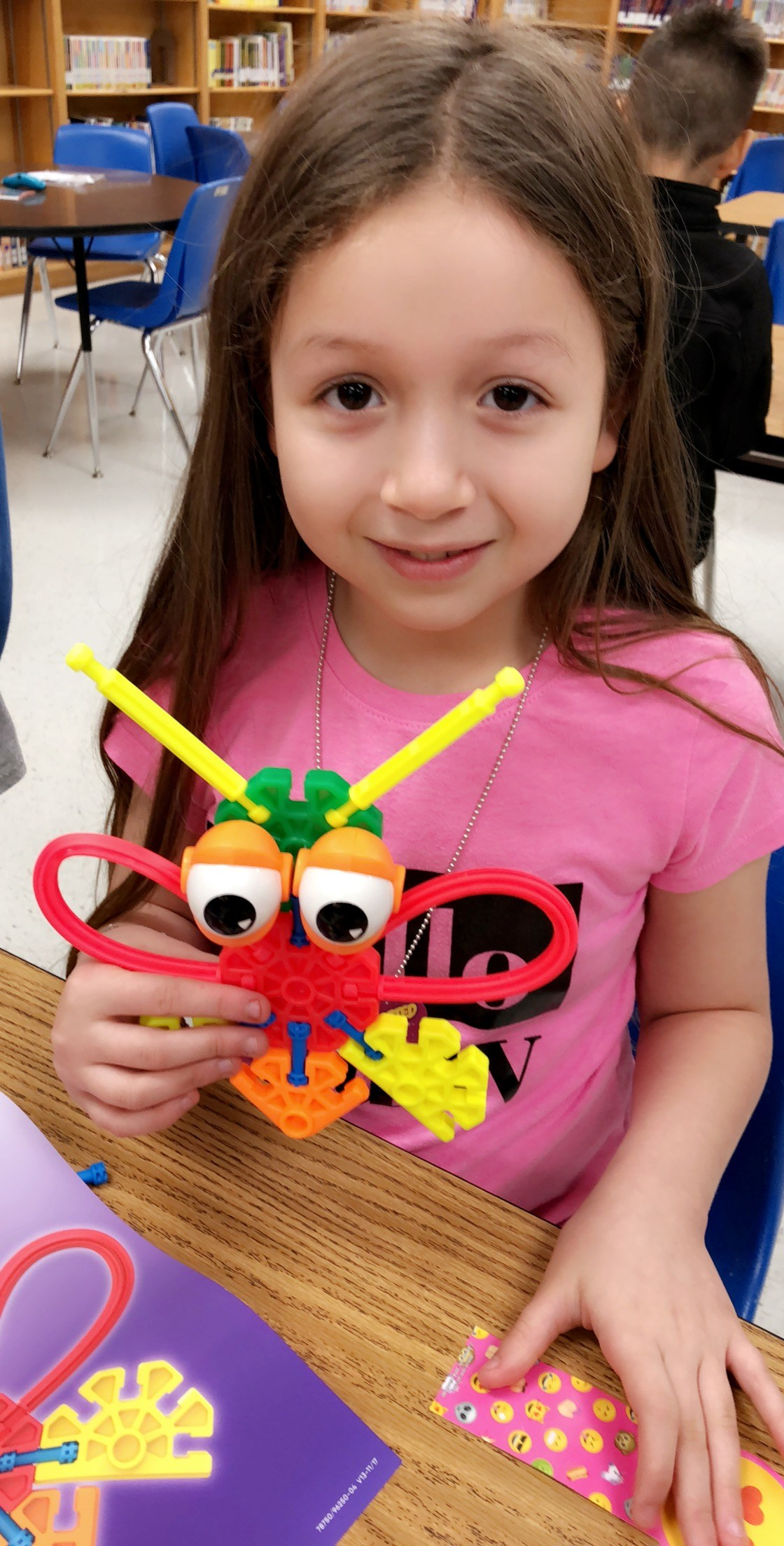 Student shows off bug creation.