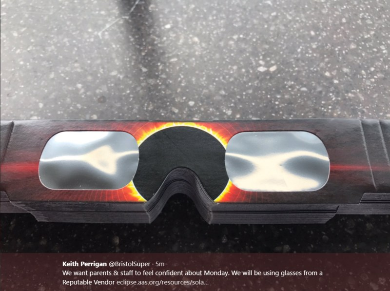 Solar Eclipse glasses we will be using