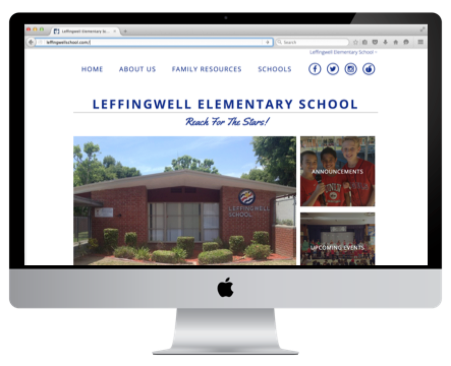 Image of Leffingwell webpage on a computer