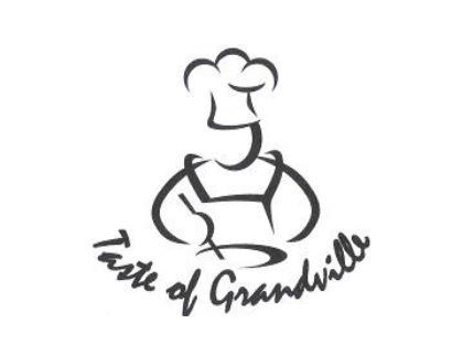 Taste of Grandville logo of chef stirring and wearing hat
