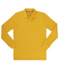 Gold Long Sleeve Polo