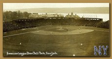 Postcard image of Hilltop Park Baseball stadium