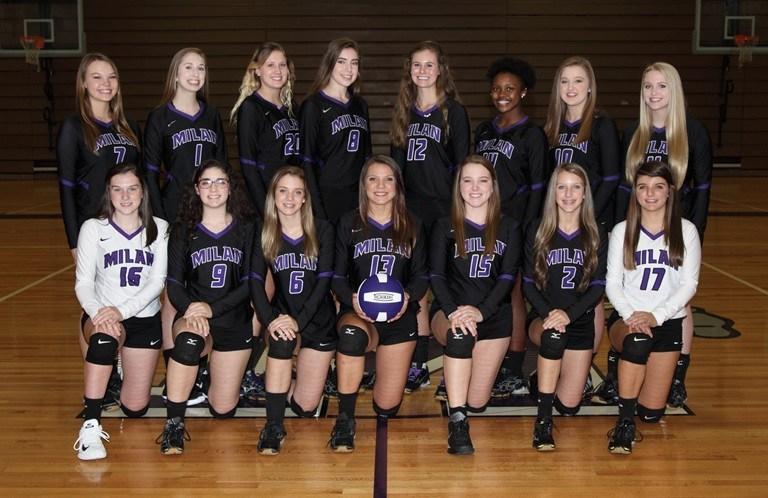 Varsity Girls Volleyball Team Photo