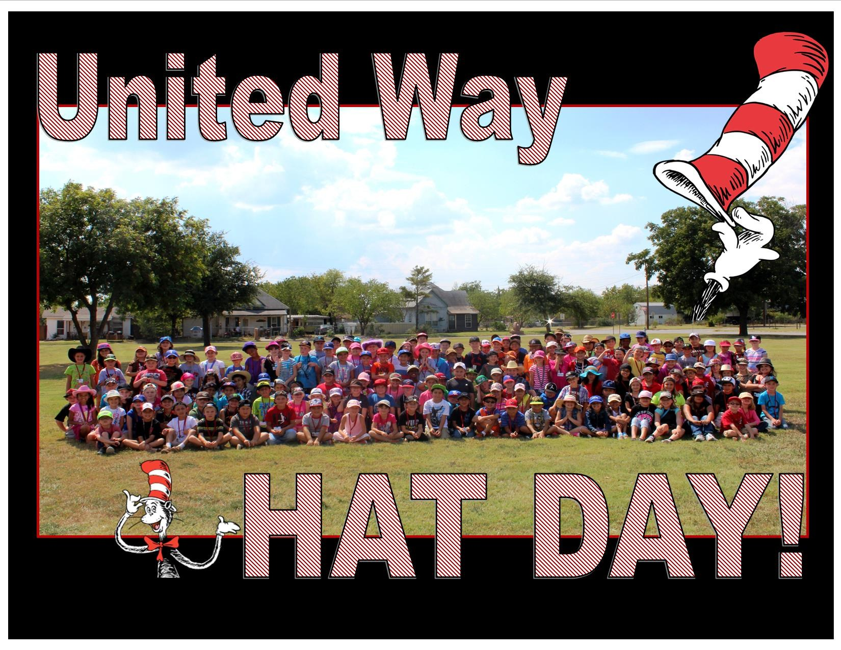 United Way Hat Day at Houston Elementary