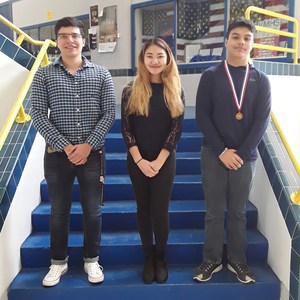 Pictured are VMHS students that competed in the UIL Academics competition in San Antonio on April 14, 2018. Participants are Michael Iglesias, Alexandra Galvez, and Damian Gonzalez.
