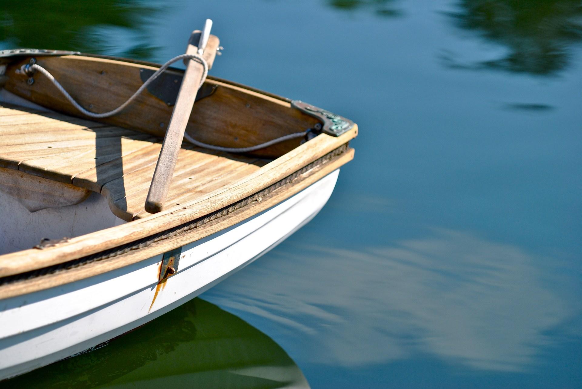 Stern of a small sailboat, Poulsbo, WA.