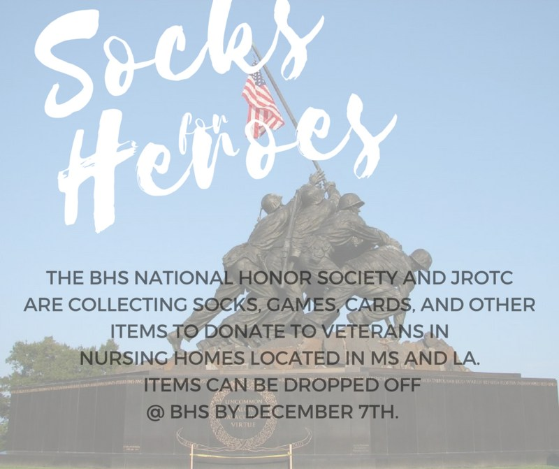 NHS Socks for Heroes Donations Due December 7th Thumbnail Image