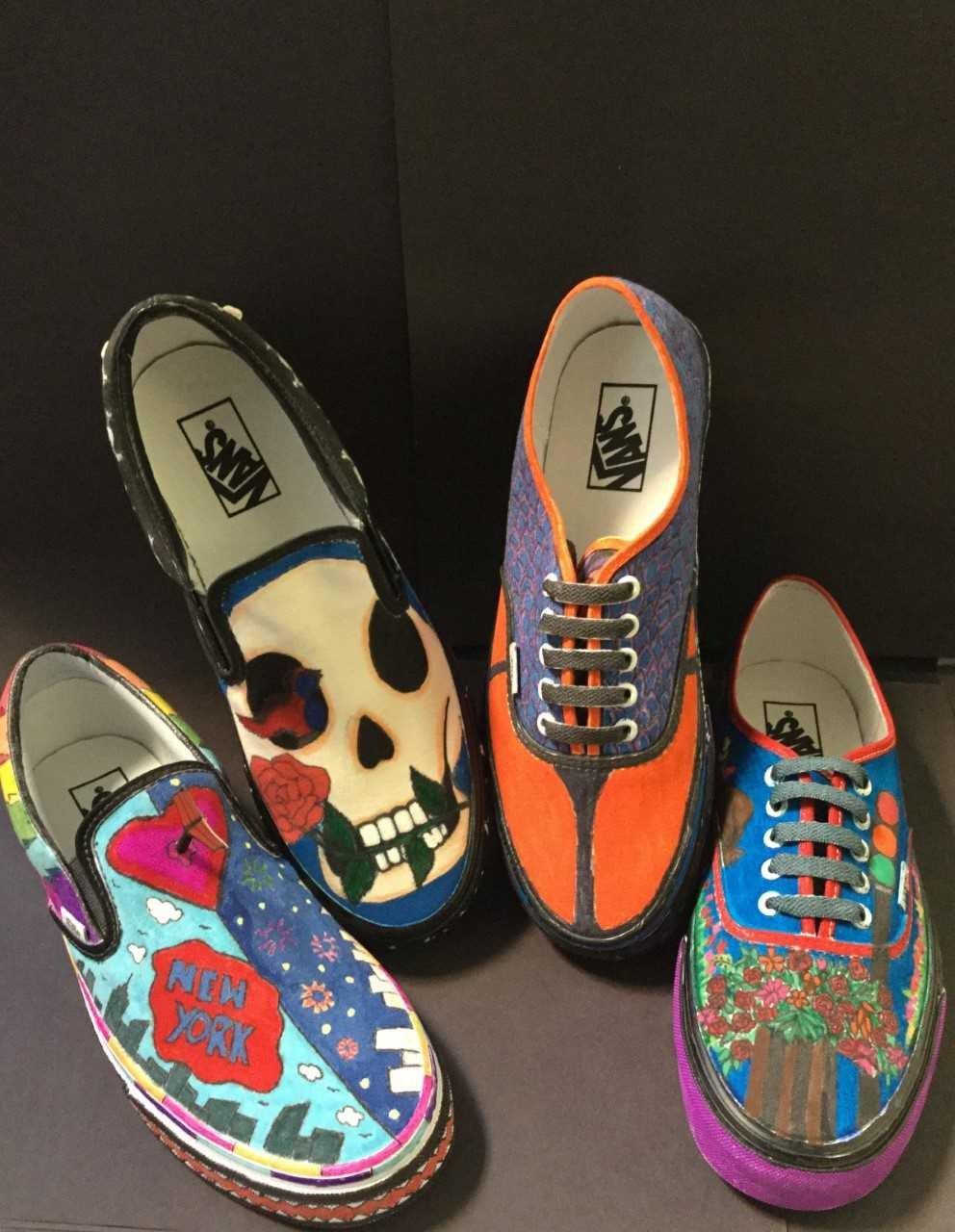 Shoe sculptures.
