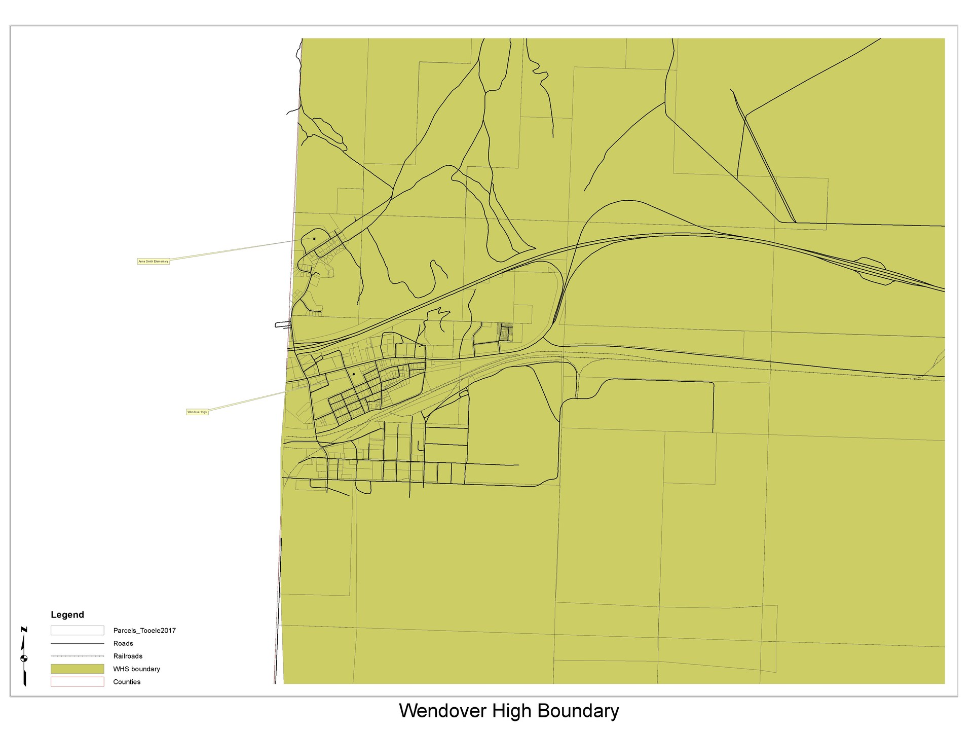 Wendover High School boundary