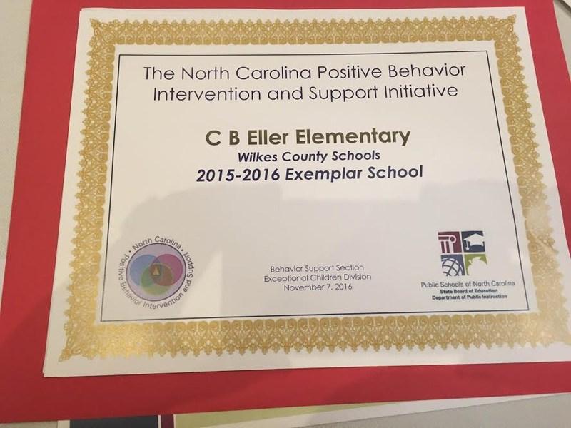 CB Eller Named 2015-2016 Exemplar School Thumbnail Image