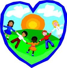 students holding hands in a heart