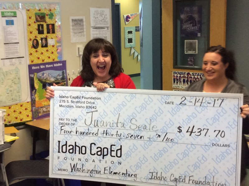 Juanita Seale wins Grant from CapEd for her 4th Grade Classroom Thumbnail Image