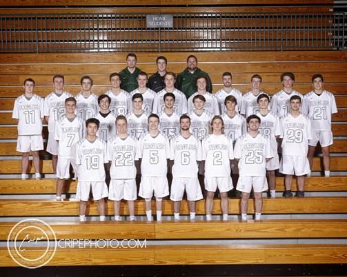 2017 Boys Varsity Lacrosse team photo