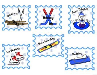 Stamps of winter games