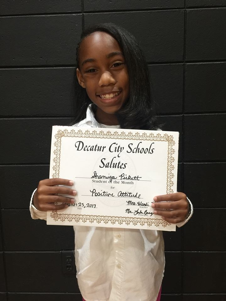 October Student of the Month - Shaniya Pickett