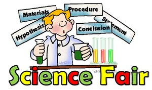Science Student with beakers performing experiments