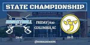 A picture of the Dorman logo and dates for the championship game