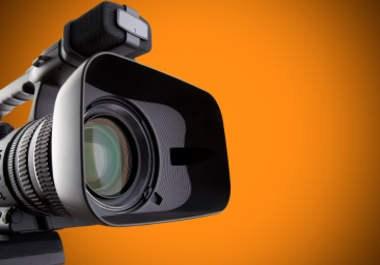 image of camera with orange background