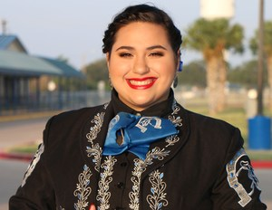 Pictured VMHS vocalist Aylin Salinas.