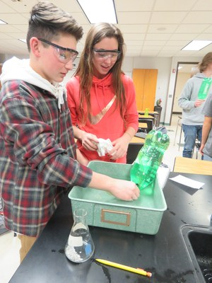 TKHS science students get a hands-on lesson.