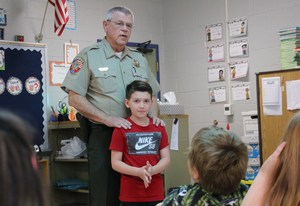 Sheriff Fitzhugh with Brayden