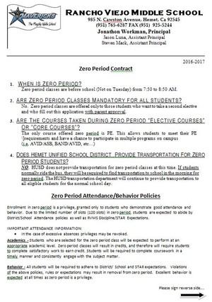 Zero period contract