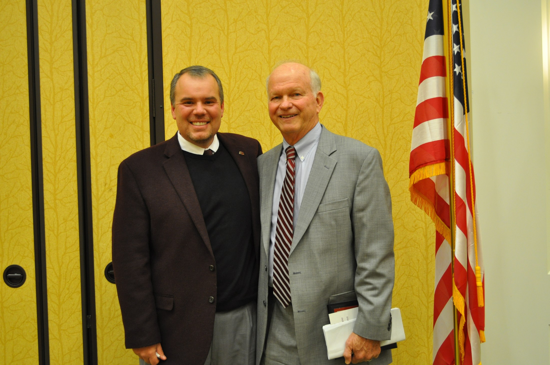 2014 Induction Ceremony: William Earl Lovelace with Dr. Chris Hampton
