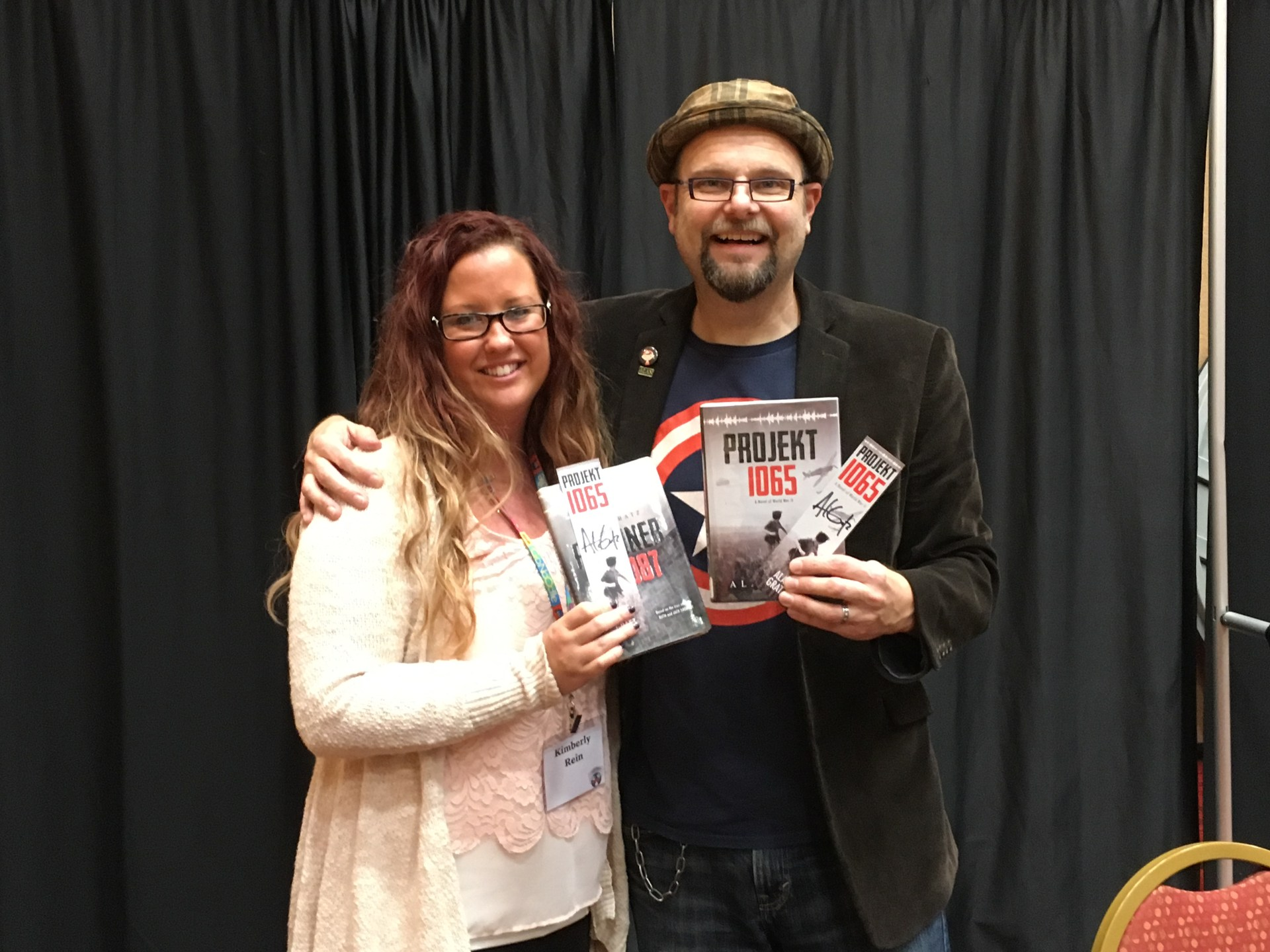 Ms. Rein with author Alan Gratz 2016