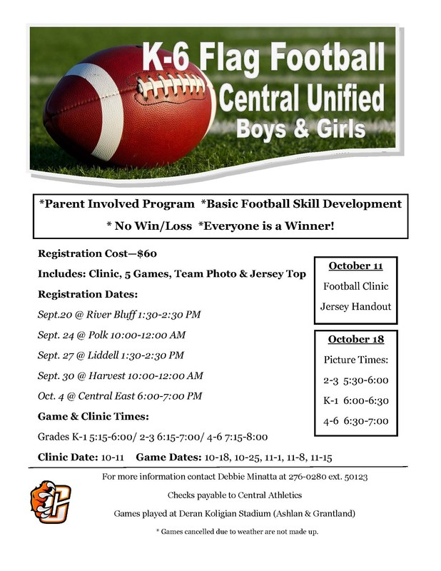 Flag Football flier