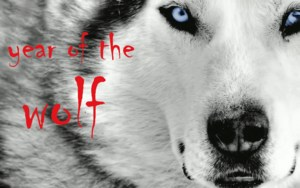 A Wolf Head with word Year of the Wolf overlaid