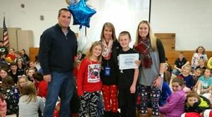 DTSD Teacher of the Year 2016 - Kelli Turner with family and Principal VanArtsdalen.jpg