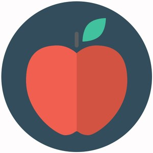 graphic of an apple representing the child nutrition department