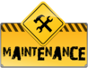 Maintenance Road Sign Image
