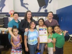 Mrs. Abbato with Mr. Celebrano, Ms. Michael and Jefferson students