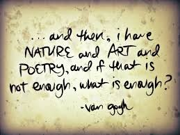 Van Gogh quote about Art & Poetry