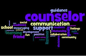 black rectangle with words related to guidance counseling