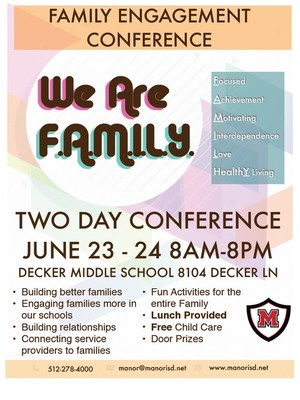 The MISD community is invited to attend our Family Engagement Conference full of fun activities.