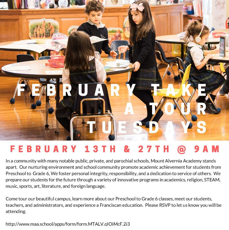February Take a Tour Tuesdays! Featured Photo